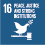 16. Promoting peaceful and inclusive societies for sustainable development, providing access to justice for all and building effective, accountable and inclusive institutions at all levels