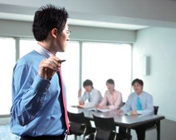 Appearance of executives in the classroom